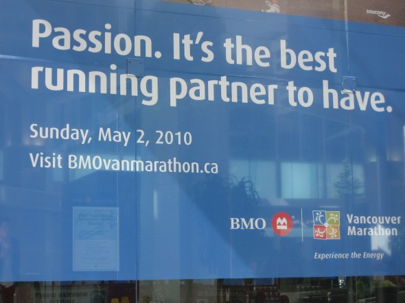 BMO marathon sign