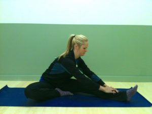 inner thigh stretch, half straddle, le physique personal training